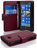 Cadorabo Hülle für Nokia Lumia 820 - Hülle in BORDEAUX LILA – Handyhülle mit Kartenfach aus struktriertem Kunstleder - Case Cover Schutzhülle Etui Tasche Book Klapp Style