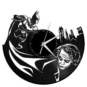 batman joker vinyl wall clock movie theme vintage room decor vinylshopus