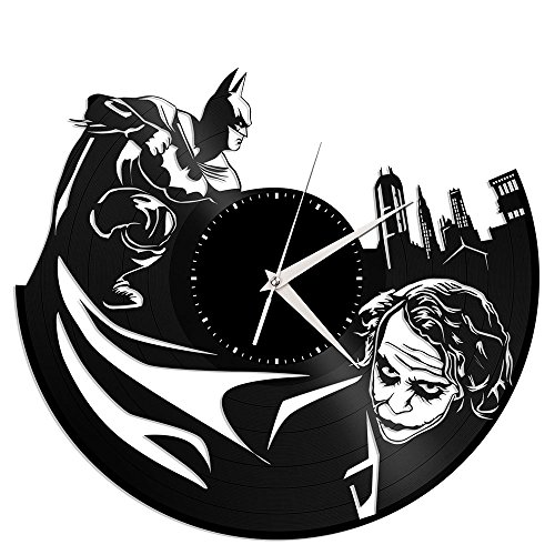 VinylShopUS – Batman Joker Vinyl Wall Clock Movie Theme Vintage Room Decor