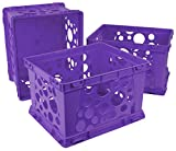 Storex Large File Crate, 17.25 x 14.25 x 10.5'', Classroom Purple, Case of 3 (61464U03C)