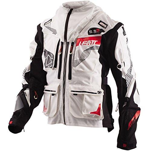 Leatt GPX 5.5 Enduro Men's Off-Road Motorcycle Jackets - White/Black X-Large ()