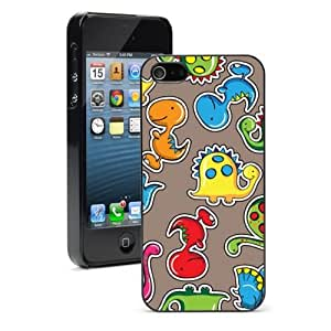 For iPhone 4 4S Hard Case Cover Colorful Cartoon Dinosaurs -01