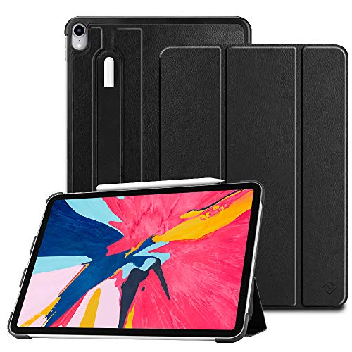 Fintie SlimShell Case for iPad Pro 11 2018 [Supports 2nd Gen Pencil Charging Mode] - Lightweight Stand Cover with [Secure Pencil Holder] Auto Sleep/Wake for iPad Pro 11, Black