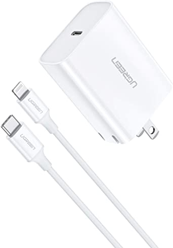 Amazon Com Ugreen Usb C Charger 18w With Lightning Cable To Usb C
