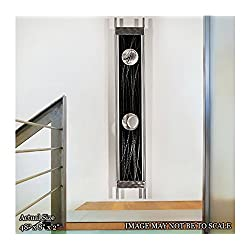 Black & Silver Metal Pendulum Wall Clock - Functional Art - Modern Contemporary Functional 3D Metal Wall Art Sculpture - Silver Reeds Clock by Jon Allen - 48