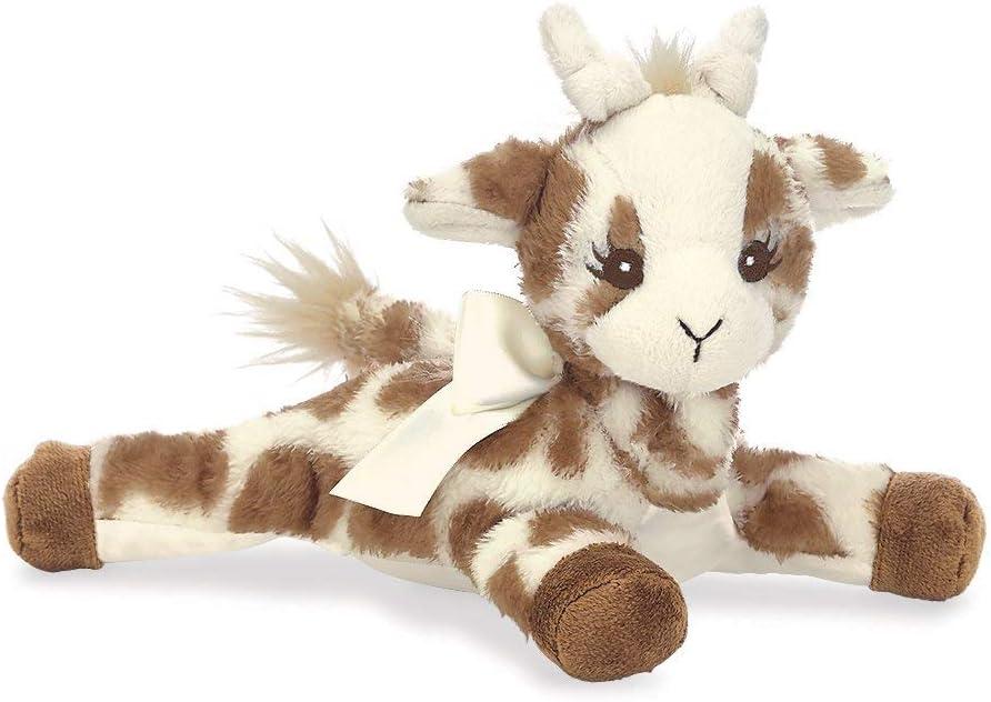 Bearington Baby Patches Plush Stuffed Animal Giraffe with Rattle, 8 inches