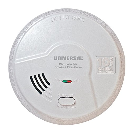 USI Living Area 10 Year Tamper Proof Permanent Power Sealed Battery Photoelectric Smoke & Fire Smart Alarm (MP316SB) by Universal Security Instruments