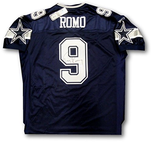 Tony Romo Hand Signed Autographed Official Blue Dallas Cowboys Jersey