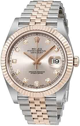 Rolex Datejust Sundust Diamond Dial Steel and 18 Everose Gold Mens Watch 126331SNDJ