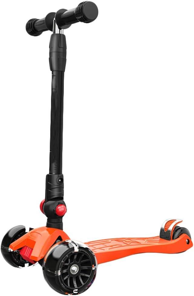スクーター2-3-6歳のワイドホイールキッズスクーターキッズ男性と女性ベビー幼児ワンピース LCSHAN (Color : オレンジ) オレンジ