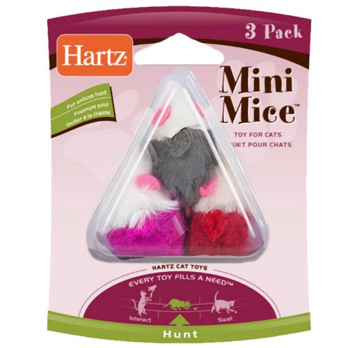 Hartz 3-Pack Mini Mice Cat Toy, My Pet Supplies