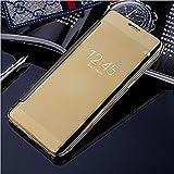 Trifty Hi Fi Shiny Mirror Flip Cover for Samsung Galaxy C9 Pro (Black)