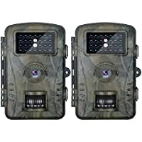 Neewer 2 - Pack Hunting Trail Camera with 940nm Infrared Night Vision up to 15 meters, 2.4 inches LCD Screen, 60 Degree Wide Angle, IP66 Waterproof Dustproof Design for Wildlife Scouting Surveillance
