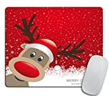 Christmas Reindeer Mouse pad,Merry Christmas and Happy New Year Mouse pad