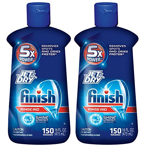 Finish Jet-Dry Rinse Aid, 16oz, Dishwasher Rinse Agent & Drying Agent (Pack of 2)