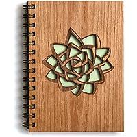 Succulent Laser Cut Wood Journal (Notebook / Birthday Gift / Gratitude Journal / Handmade)