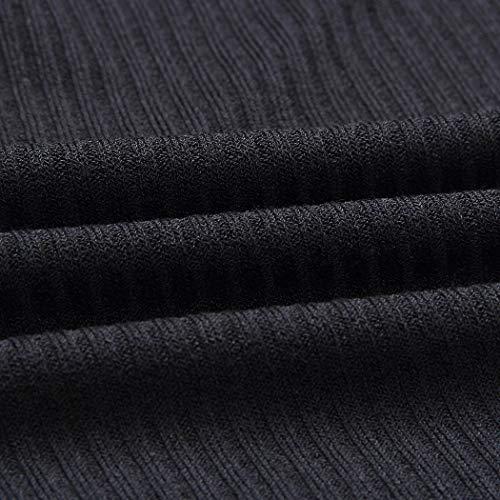 Blusas Camisas Punto Sólido Mujer Manga Un De Y Flare Hombro Negro Frío Aimado Blusa zvw7RTxT