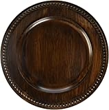 ChargeIt by Jay Beaded Charger Plate, Brown