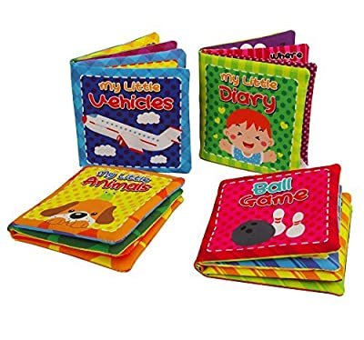 Quner Baby's First Non-Toxic Soft Cloth Book Baby Cloth Book Set Kids Early Learning Educational Toys-Pack of 4 by Quner that we recomend individually.