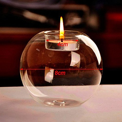ZHUOTOP 1Pc Classic Crystal Glass Candle Holder Wedding Bar Party Home Decor Candlestick