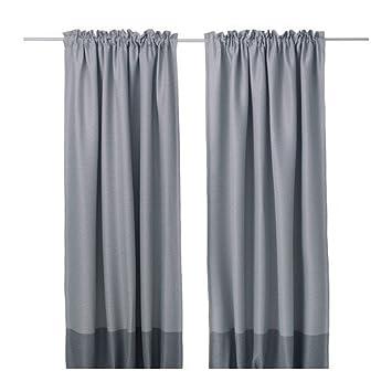 IKEA marjun - Tende oscuranti 1 coppia grigio - 145 x 300 cm ...