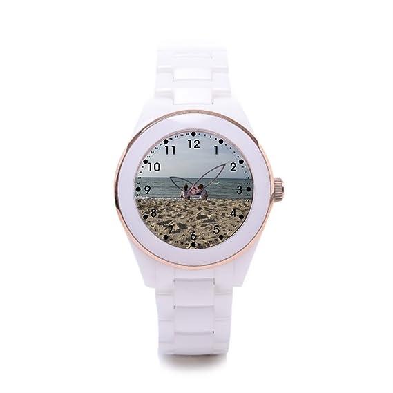 Queensland cerámica reloj banda Skyline lujo relojes niñas: Amazon.es: Relojes