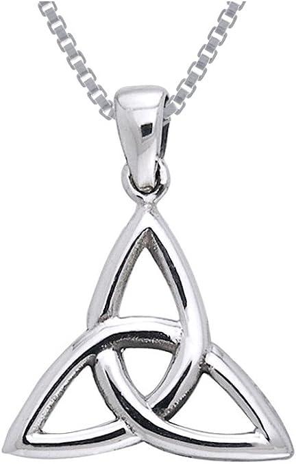Sterling Silver CELTIC Triquetra IRISH Trinity Knot Ireland Pendant Necklace