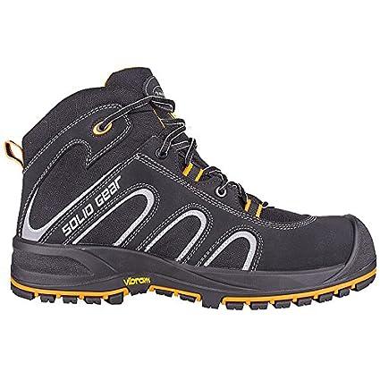 Solid Gear sg7300242 Falcon – Zapatos de seguridad S3 talla 42 NEGRO/NARANJA