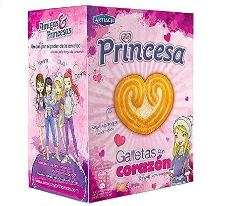 Artiach - Princesa - Galletas con corazón - 1 paquete de 120 gr.: Amazon.es: Alimentación y bebidas