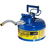"Type II AccuFlowTM Steel Safety Can for flammables, 1 gal., S/S flame arrester, 5/8"" metal hose"