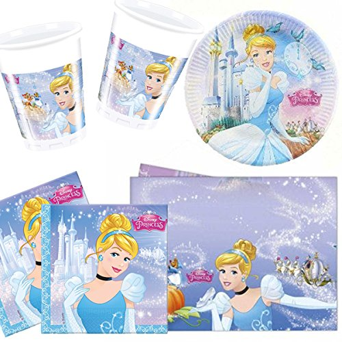 Cinderella Party Pack for 8 - 8 cups 8 plates 20 napkins 1 tablecover! Amazon.co.uk Toys u0026 Games  sc 1 st  Amazon UK & Cinderella Party Pack for 8 - 8 cups 8 plates 20 napkins 1 ...