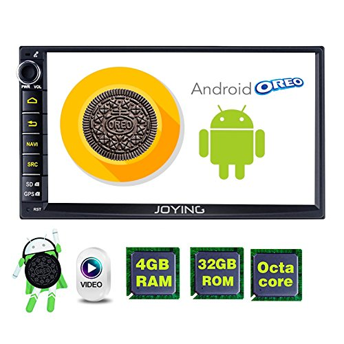 JOYING 7 Car Stereo Android 8.0 4GB + 32GB Head Unit Double Din with Octa Core Bluetooth 4.2 Zlink & Android Auto - Supprot Audio & Video Out