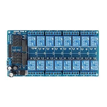 SainSmart & registro de 16 canales Módulo de relé de 12V para Arduino UNO MEGA R3 Mega2560 Duemilanove Nano Robot