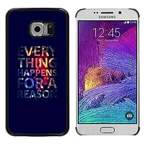 TopCaseStore / la caja del caucho duro de la cubierta de protección de la piel - Poster Wallpaper Deep Quote - Samsung Galaxy S6 EDGE SM-G925