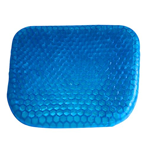 MQYH@ Gel Seat Cushion Breathable Cooling Pad for Car, Office Chair, Wheelchair, Pressure Sore Relief - Gel Comfort, Prevents Sweaty Bottom, Durable, Portable Seat Cushion with Washable Cover by MQYH@ (Image #8)