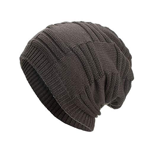 - Knitted Winter Slouchy Beanie Hat - SHL Unisex Crochet Cable Ski Cap Baggy Slouch Hats for Women Men