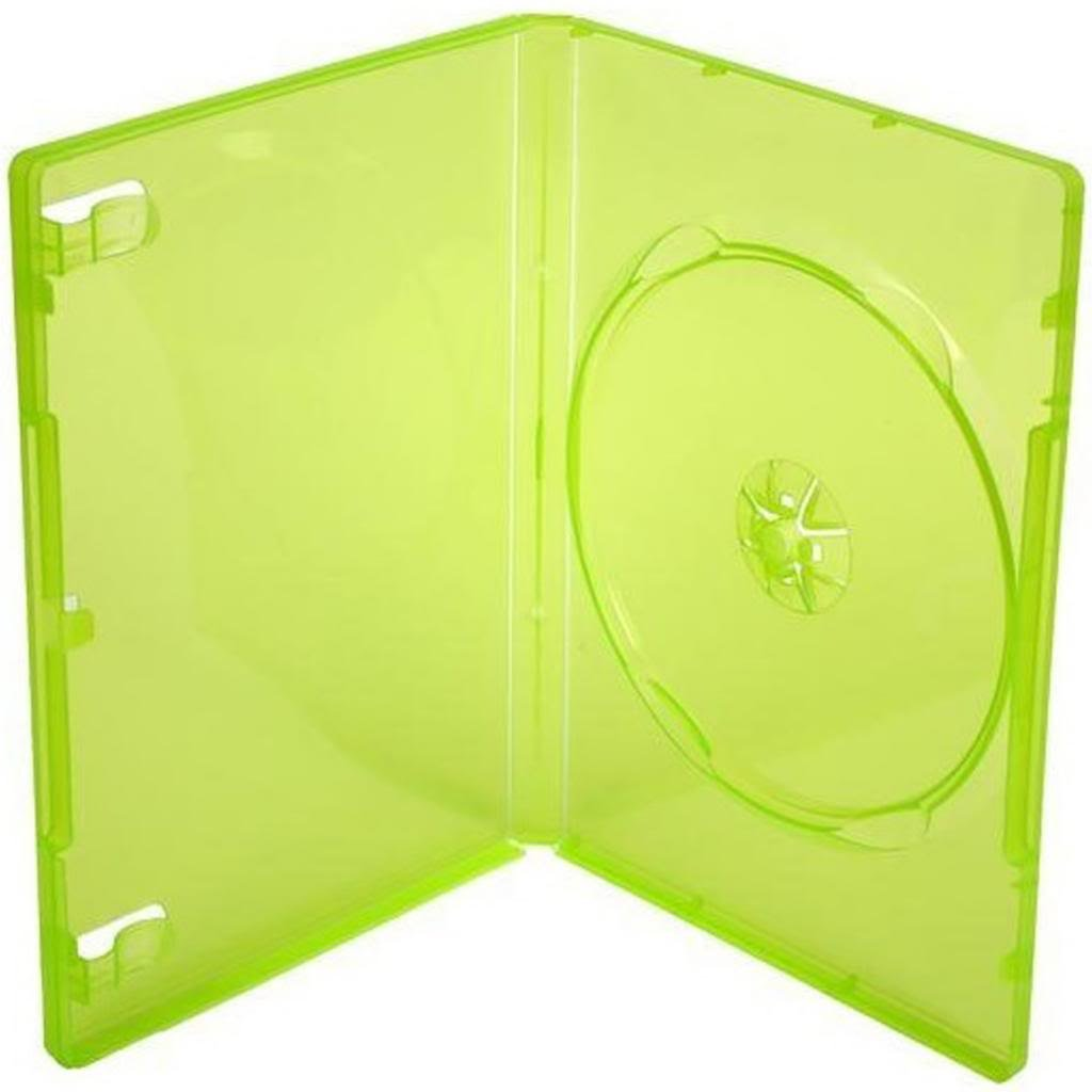 Four Square Media 1 X XBOX 360 Replacement Game Cases Translucent Green - Pack of 1 XBOX360GRN-1