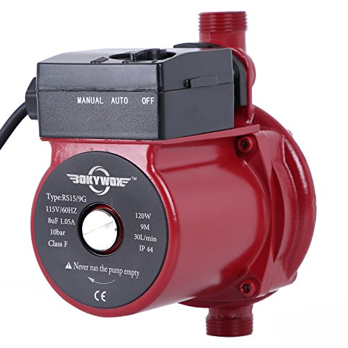 "BOKYWOX 110V Hot Water Circulation Pump  3/4"" Circulating Pu"