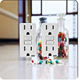 Rikki Knight 8871 Gfidouble Medical Capsules & Tablets in Bottle Design Light Switch Plate