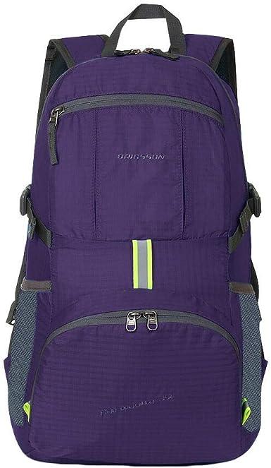 35L Folding Waterproof Backpack Travel Hiking School Bag Rucksack for Men Women