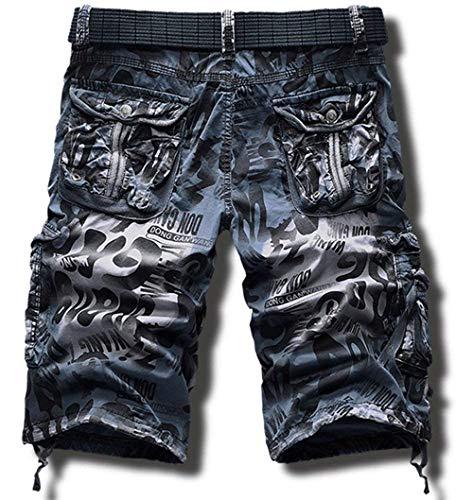 Cargo Da Dunkelblau Esterno Taschino Senza 5 Short Eudolah Savage Multi Jeans Adelina Sportivo Abbigliamento Pantalone Con Vintage Corti Uomo Pantaloni Cinturino EwcaqfHO