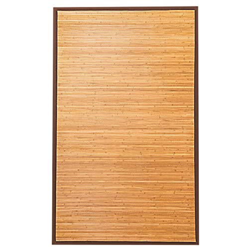 (Giantex 5'x8' Bamboo Area Rug Floor Carpet Natural Bamboo Wood Indoor Outdoor 60