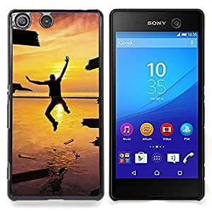 - Design Jump Happiness Sunset/ Hard Snap On Cell Phone Case Cover - Cao - For Sony Xperia M5