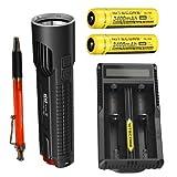 Bundle: Nitecore EC4S 2150 Lumen Flashlight CREE XHP50 LED w/2x NL189 18650 Batteries & UM20 Charger +FREE Andrew & Amanda Pen!