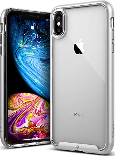 Caseology [Skyfall Series] iPhone Xs Max Case - [Clear Back/Premium Finish] - Silver