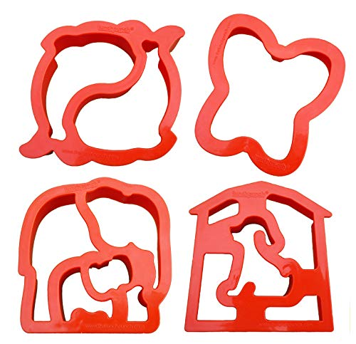 Lunch Punch Animal Shape Sandwich Cutters (Set of 4) ()