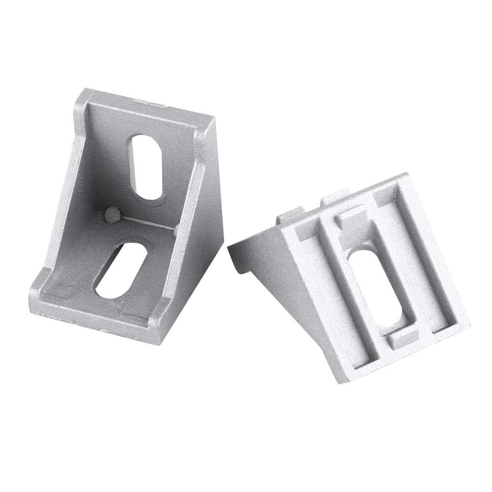 5pcs Aluminum Alloy Corner Bracket Fastener with 2 Oval Hole for Doors Windows Furniture L Shape Corner Bracket 40x40mm Bracket