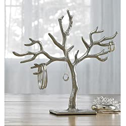 KINDWER Hanging Jewelry Tree Earring, Necklace, Ring and Bracelet Organizer, 11 Inch