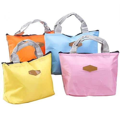 OUNONA Pranzo borsa isolato Sacchetto da picnic termico di 21 x 10 x 20 cm (rosa)