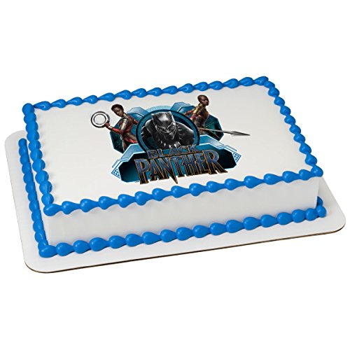 Price comparison product image Marvel's Black Panther Warriors Licensed Edible Sheet Cake Topper 22906